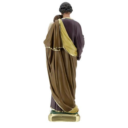 Saint Joseph 40 cm statue plâtre peint main Arte Barsanti 7