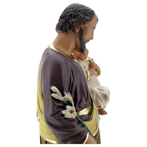 Saint Joseph with Child Jesus statue, 40 cm hand painted Arte Barsanti 6