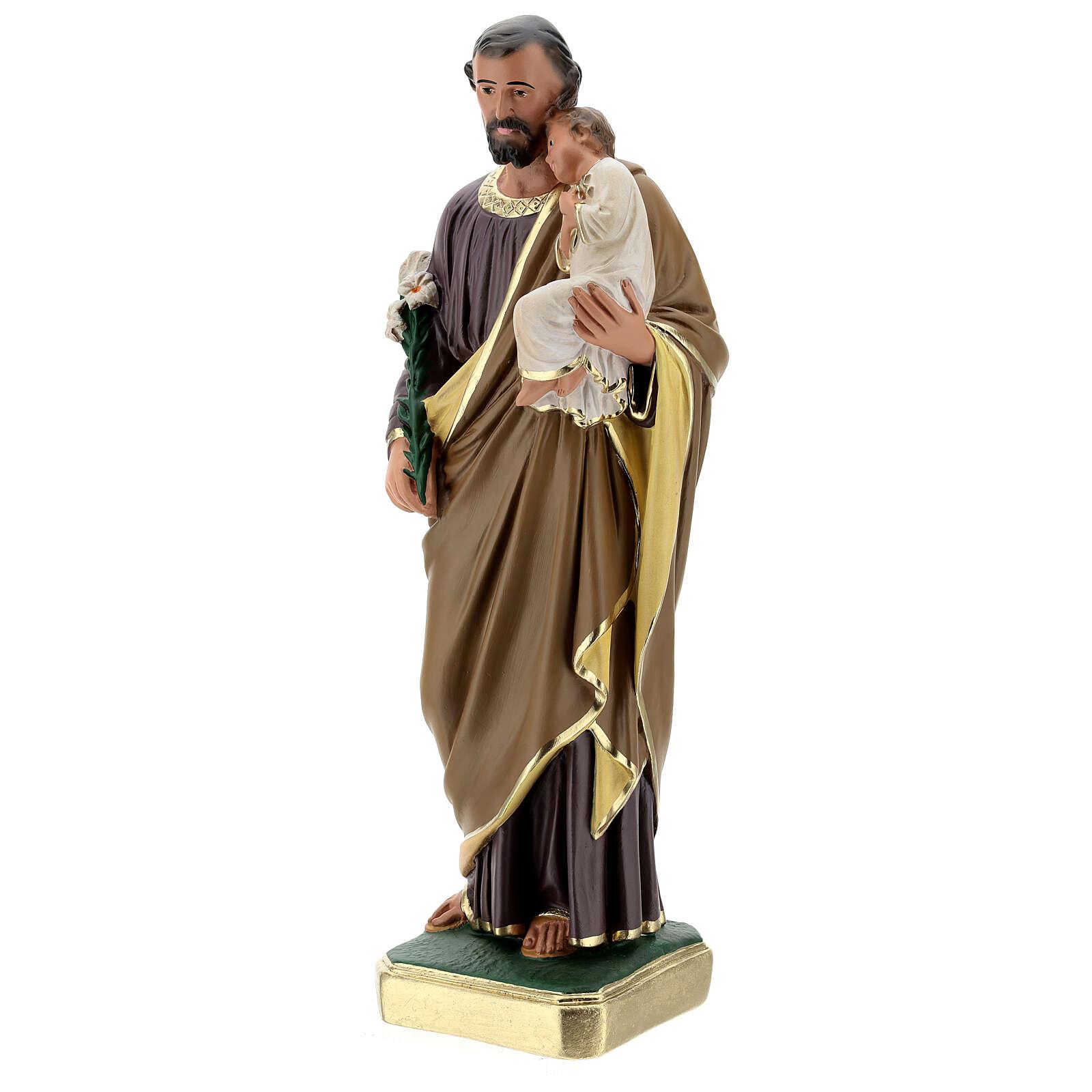 Statue aus Gips Josef von Nazaret handbemalt von Arte Barsanti, 50 cm 4