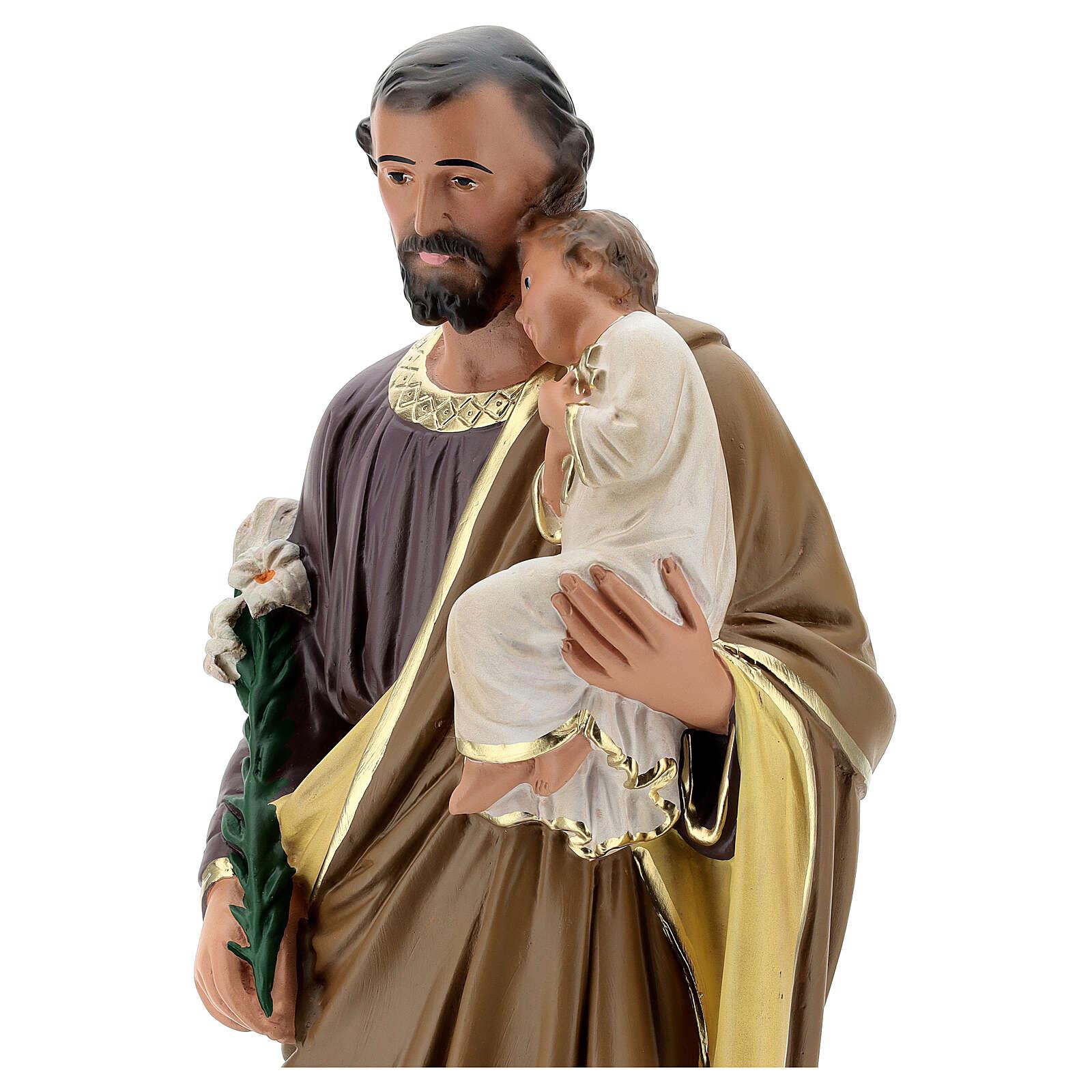 Saint Joseph statue plâtre 50 peint main Arte Barsanti 4