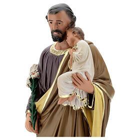 Saint Joseph statue plâtre 50 peint main Arte Barsanti s4