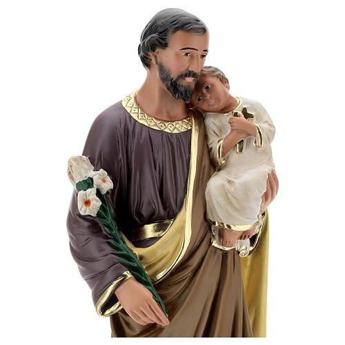 Saint Joseph statue plâtre 50 peint main Arte Barsanti 2