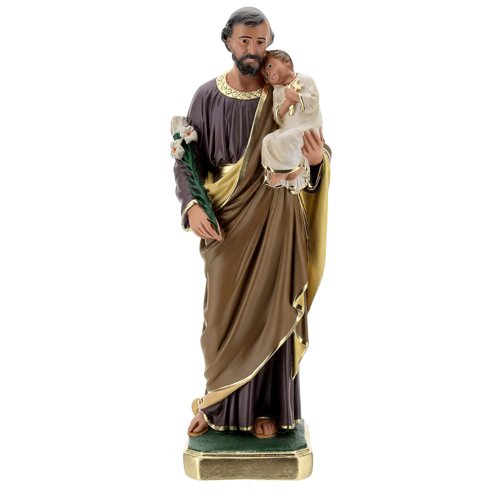 San Giuseppe statua gesso 50 cm dipinta a mano Arte Barsanti 4