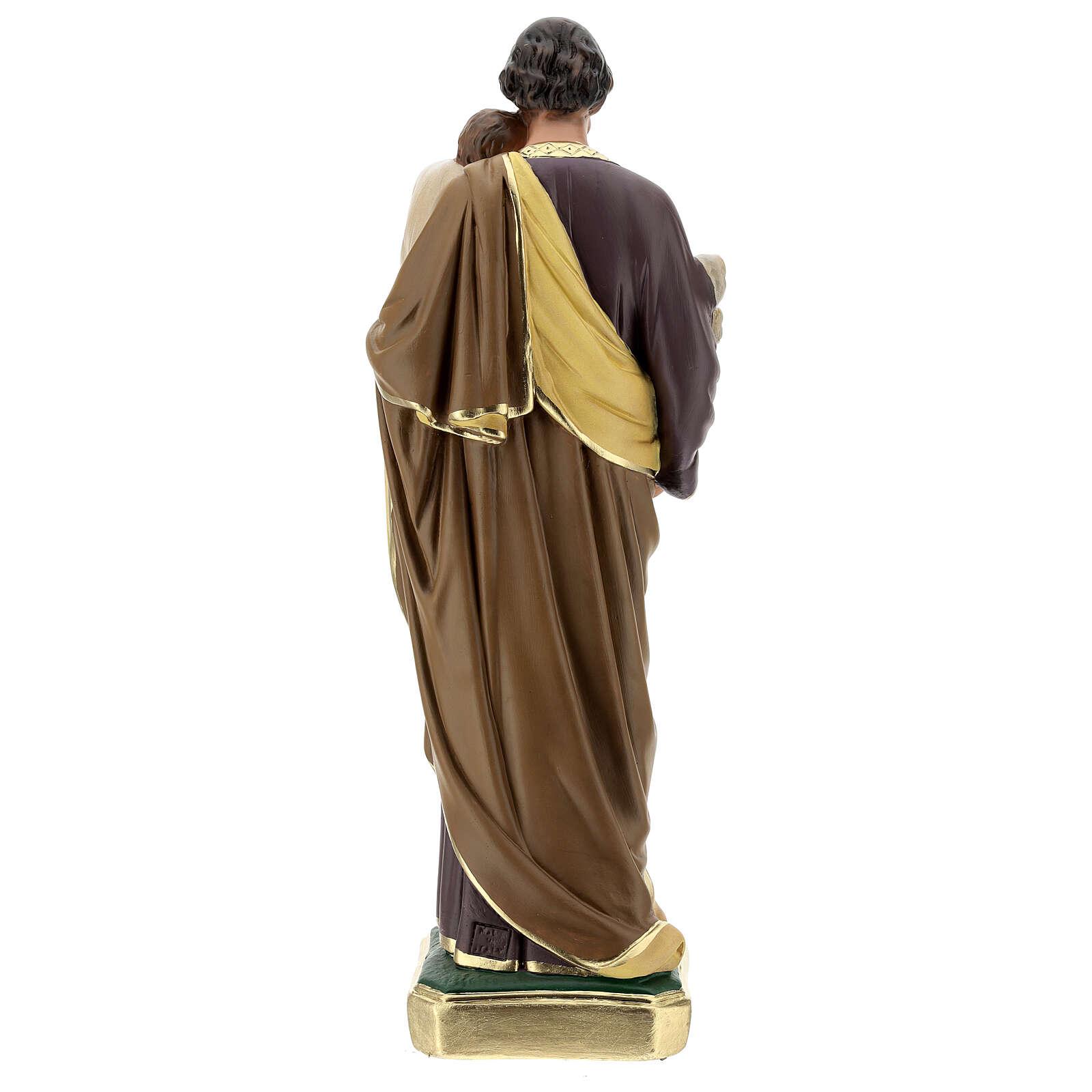 St Joseph plaster statue, 50 cm hand painted Arte Barsanti 4