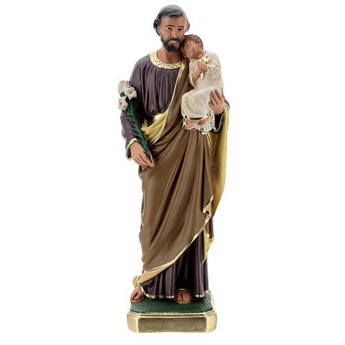 St Joseph plaster statue, 50 cm hand painted Arte Barsanti 1