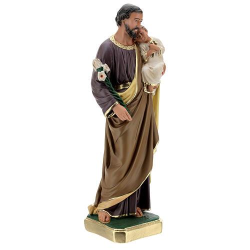 St Joseph plaster statue, 50 cm hand painted Arte Barsanti 5