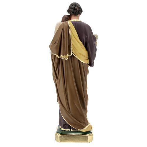 St Joseph plaster statue, 50 cm hand painted Arte Barsanti 6