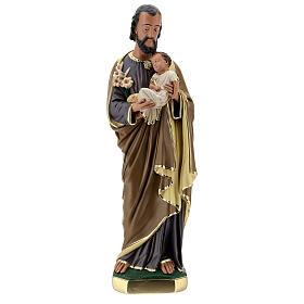 Statue aus Gips Josef von Nazaret mit Jesuskind von Arte Barsanti, 60 cm s1