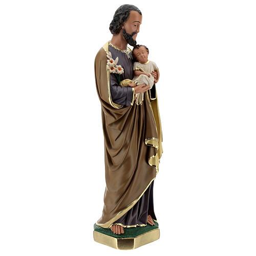 Statue aus Gips Josef von Nazaret mit Jesuskind von Arte Barsanti, 60 cm 5