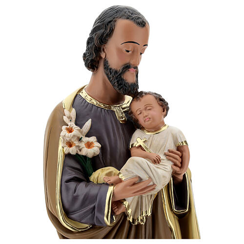 Joseph holding Baby Jesus statue, 60 cm plaster Arte Barsanti 2