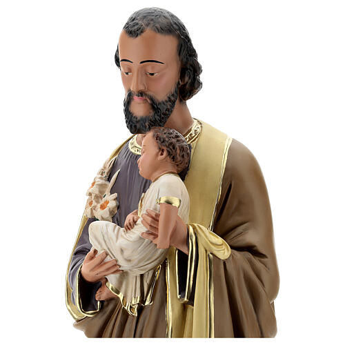 Joseph holding Baby Jesus statue, 60 cm plaster Arte Barsanti 4
