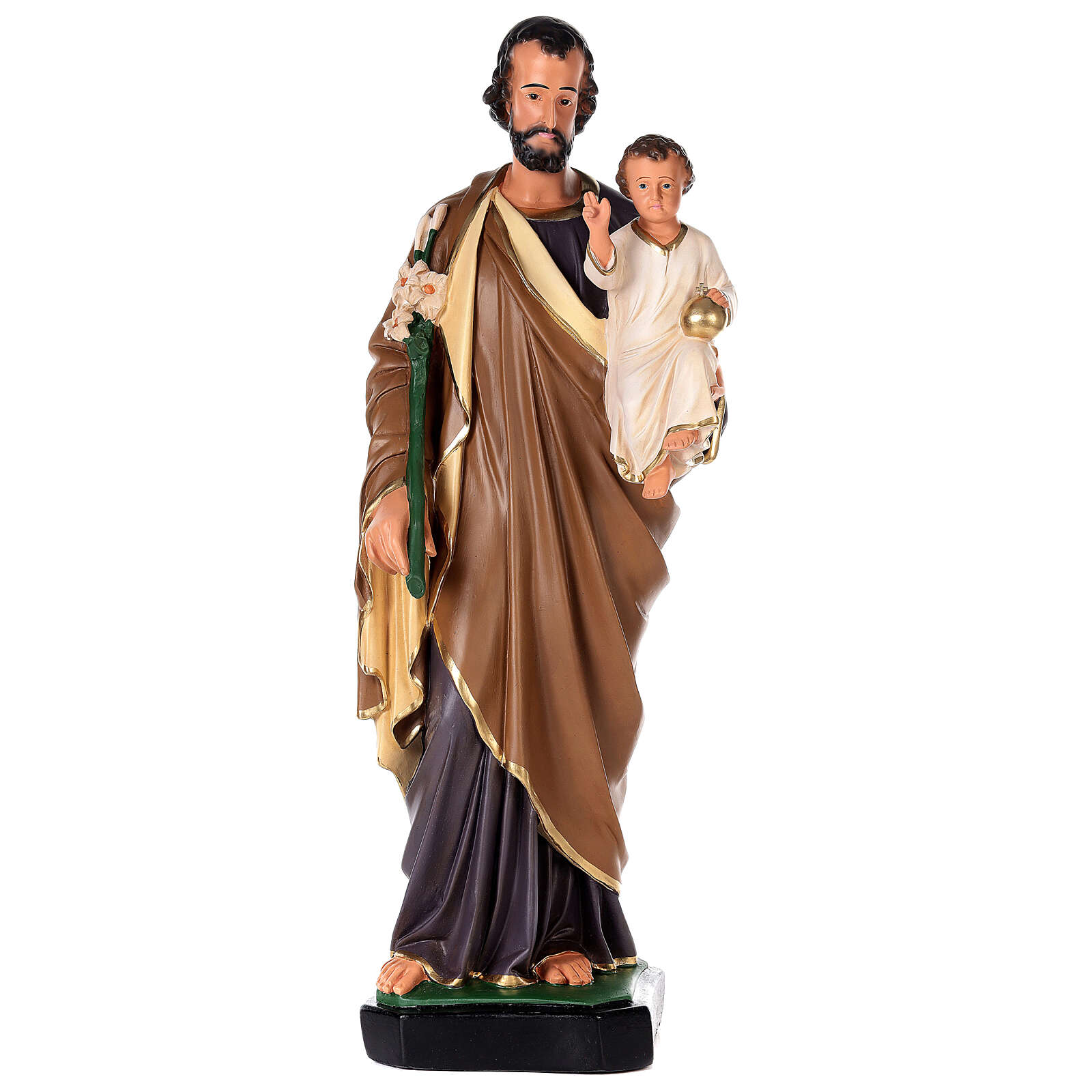 St. Joseph Arte Barsanti plaster statue 80 cm 4