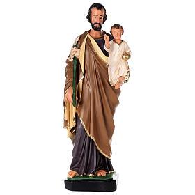 St. Joseph Arte Barsanti plaster statue 80 cm s1