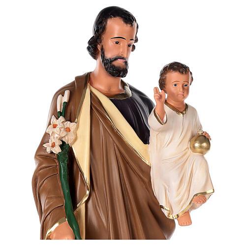 Estatua San José 80 cm yeso pintado a mano Arte Barsanti