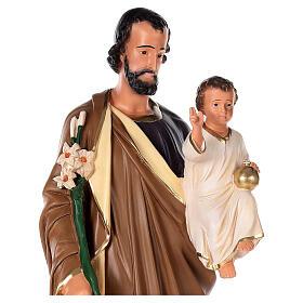 Statua San Giuseppe 80 cm gesso dipinto a mano Arte Barsanti