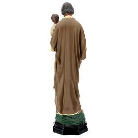 Saint Joseph Enfant Jésus 65 cm statue résine peinte main Arte Barsanti s6