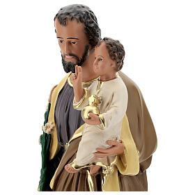 San Giuseppe Bambino 65 cm statua resina dipinta mano Arte Barsanti