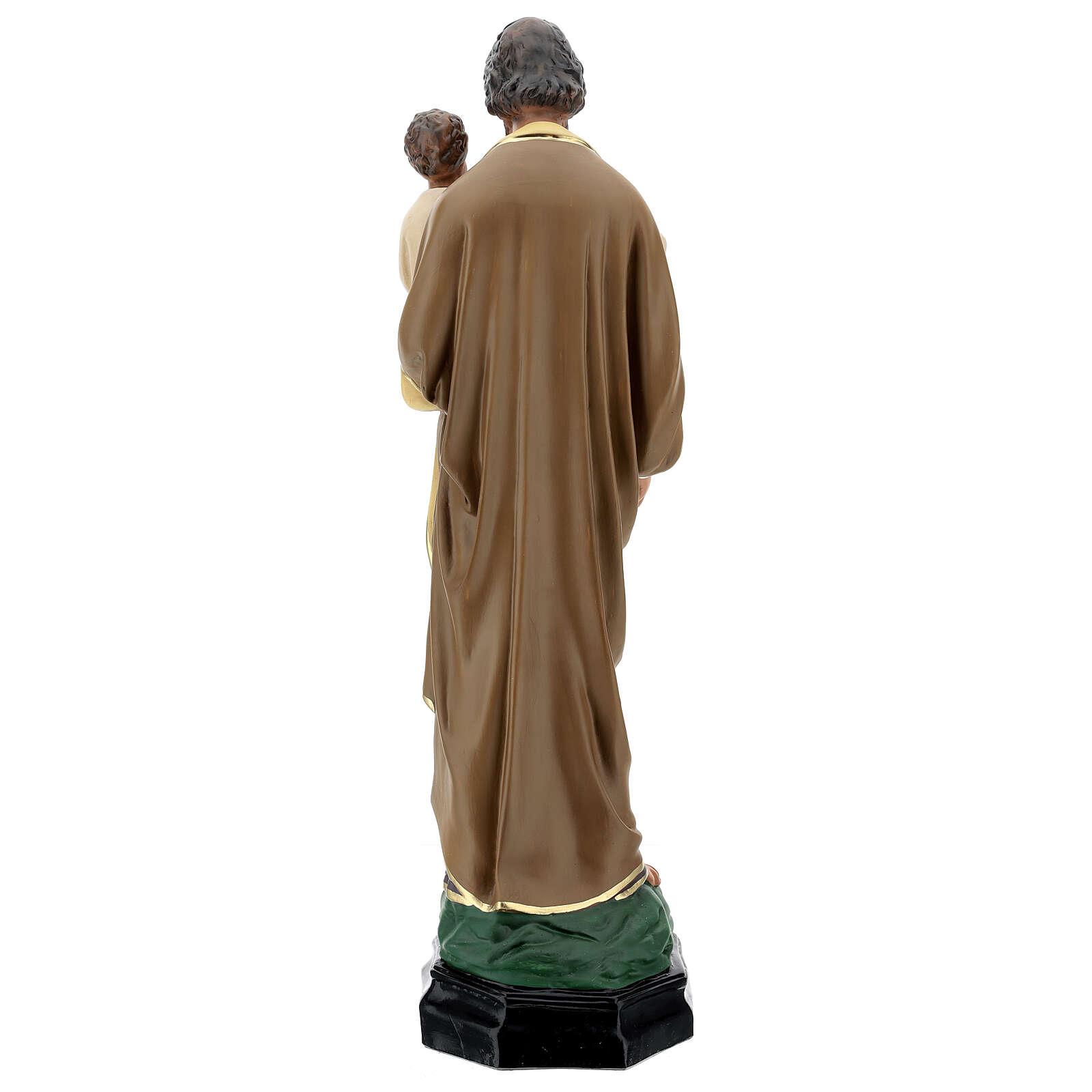 Statue of St Joseph and Child Jesus, 65 cm hand painted resin Arte Barsanti 4