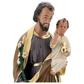 Statue of St Joseph and Child Jesus, 65 cm hand painted resin Arte Barsanti s4