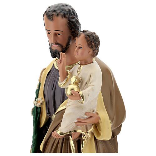 Statue of St Joseph and Child Jesus, 65 cm hand painted resin Arte Barsanti 2