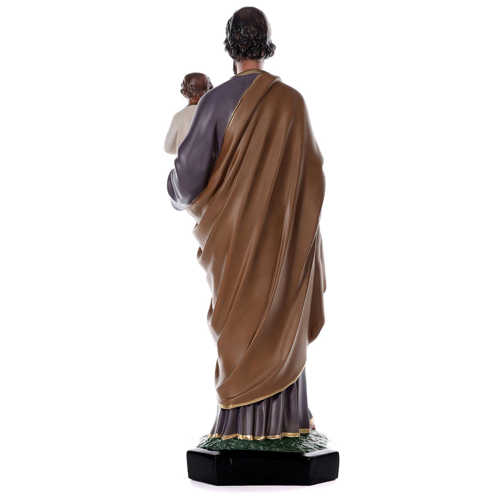 Statue Saint Joseph Enfant 85 cm résine peinte à la main Arte Barsanti 4