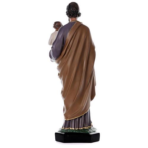 Statua San Giuseppe Bambino 85 cm resina dipinta a mano Arte Barsanti 5