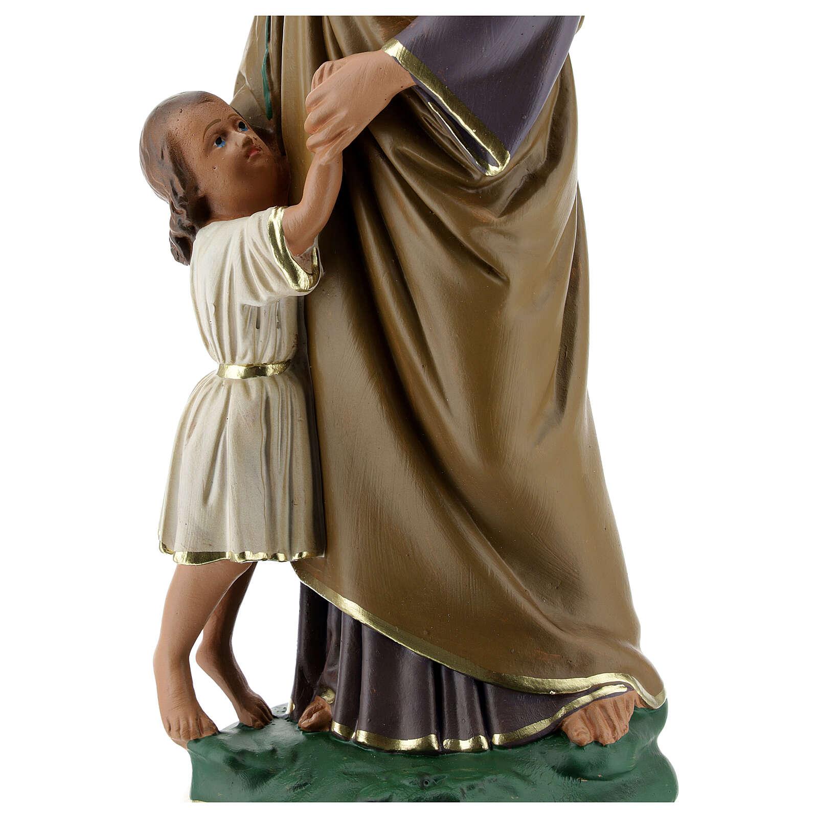 Statue aus Gips Josef von Nazaret mit Jesuskind von Arte Barsanti, 30 cm 4