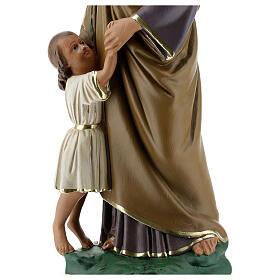 Saint Joseph avec Enfant Jésus statue plâtre 30 cm peinte main Barsanti s2