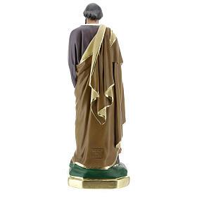 Saint Joseph avec Enfant Jésus statue plâtre 30 cm peinte main Barsanti s5