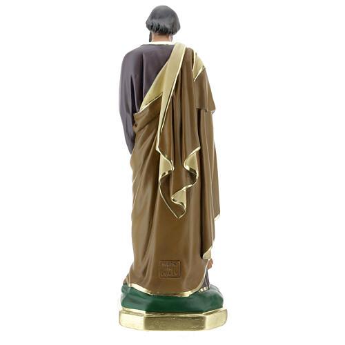 Saint Joseph avec Enfant Jésus statue plâtre 30 cm peinte main Barsanti 5