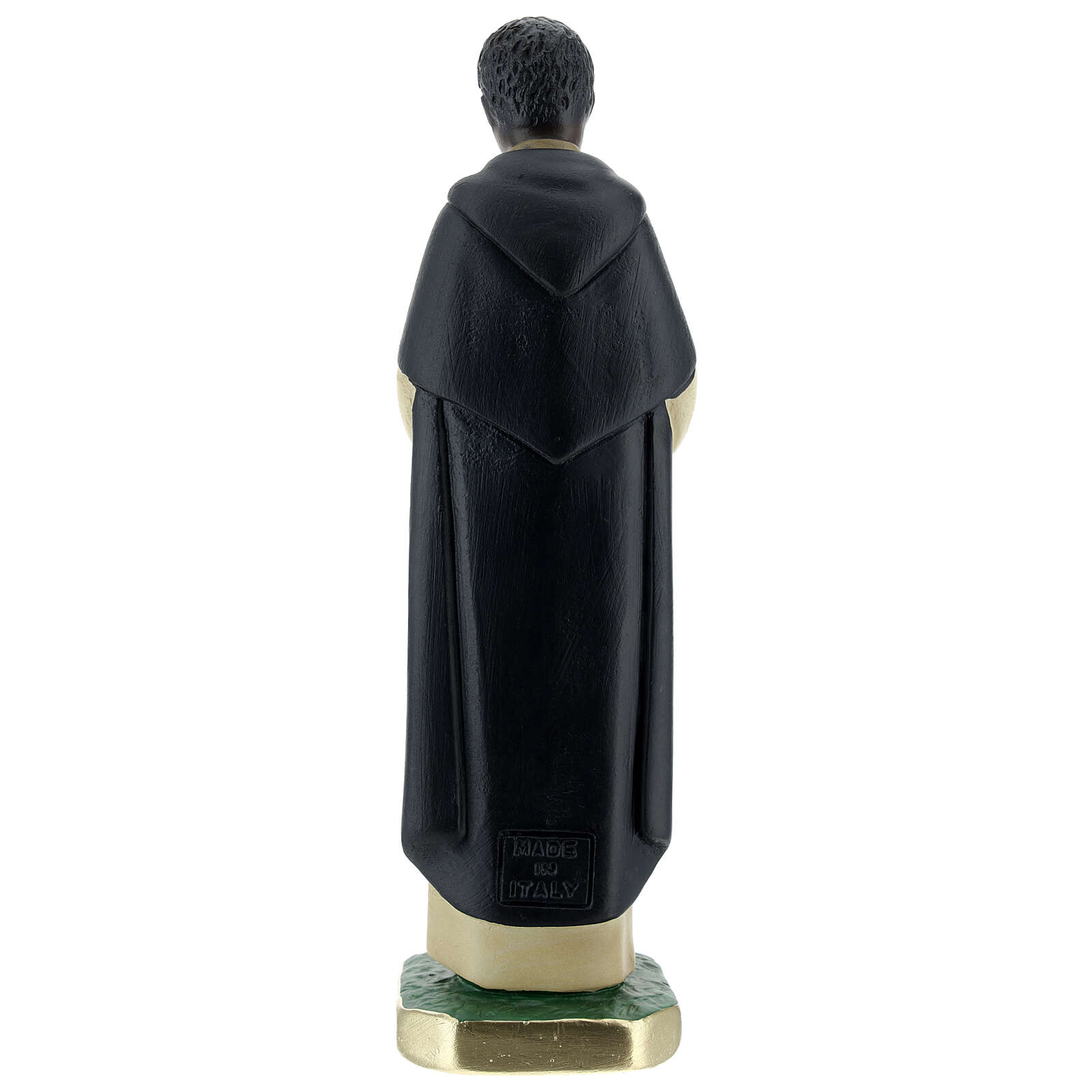 Saint Martin de Porrès statue plâtre 20 cm peint Arte Barsanti 4