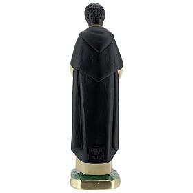 Saint Martin de Porrès statue plâtre 20 cm peint Arte Barsanti s4