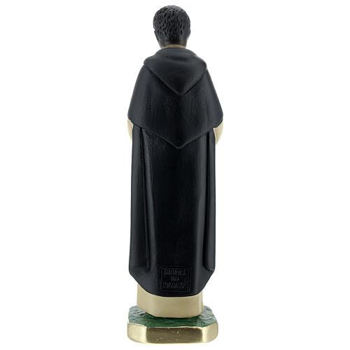 San Martin de Porres statue, 20 cm painted plaster Arte Barsanti 4