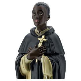 San Martín de Porres estatua yeso 40 cm Arte Barsanti s2