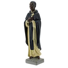 Saint Martin de Porrès statue plâtre 40 cm Arte Barsanti s3