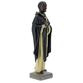 Saint Martin de Porrès statue plâtre 40 cm Arte Barsanti s5