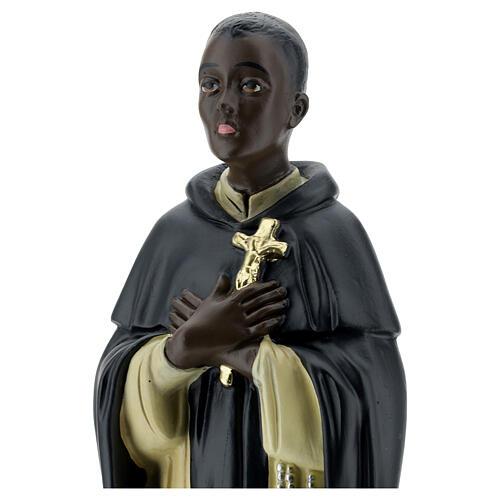 Saint Martin de Porrès statue plâtre 40 cm Arte Barsanti 2