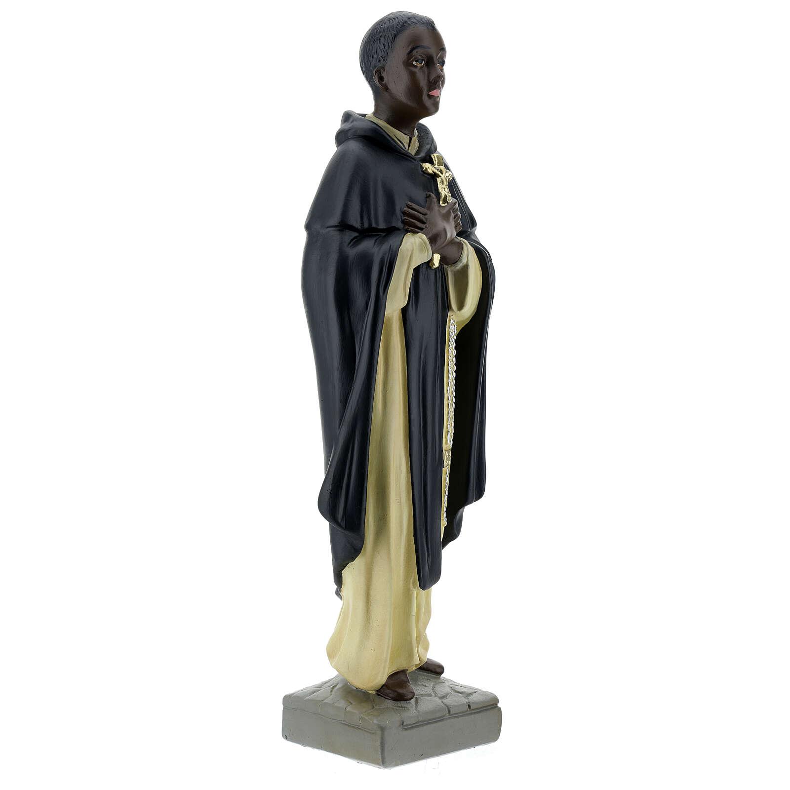 San Martin de Porres statua gesso 40 cm Arte Barsanti 4