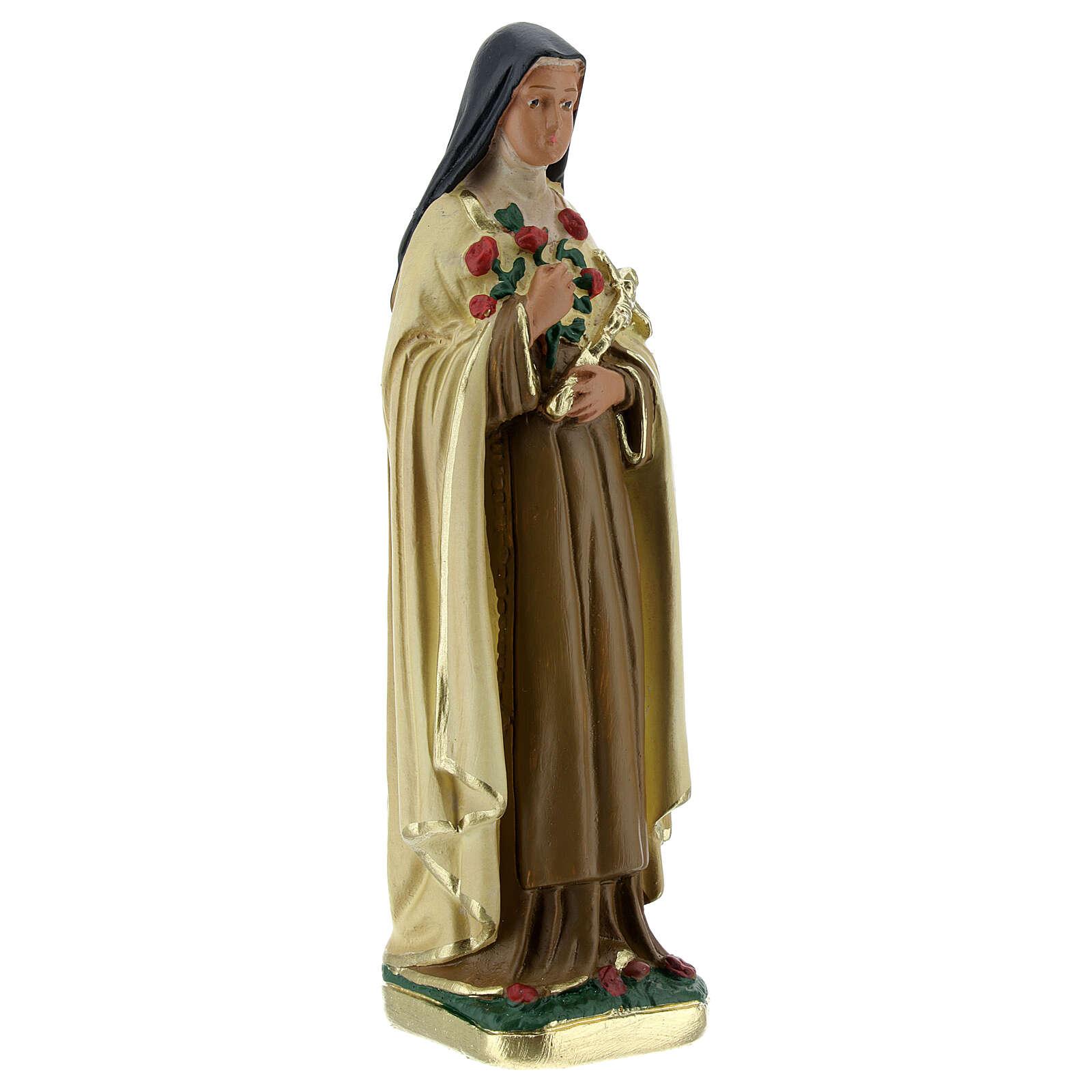 Santa Teresa del Niño Jesús estatua yeso 15 cm Arte Barsanti 4