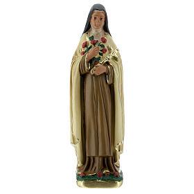 Santa Teresa del Niño Jesús estatua yeso 15 cm Arte Barsanti s1