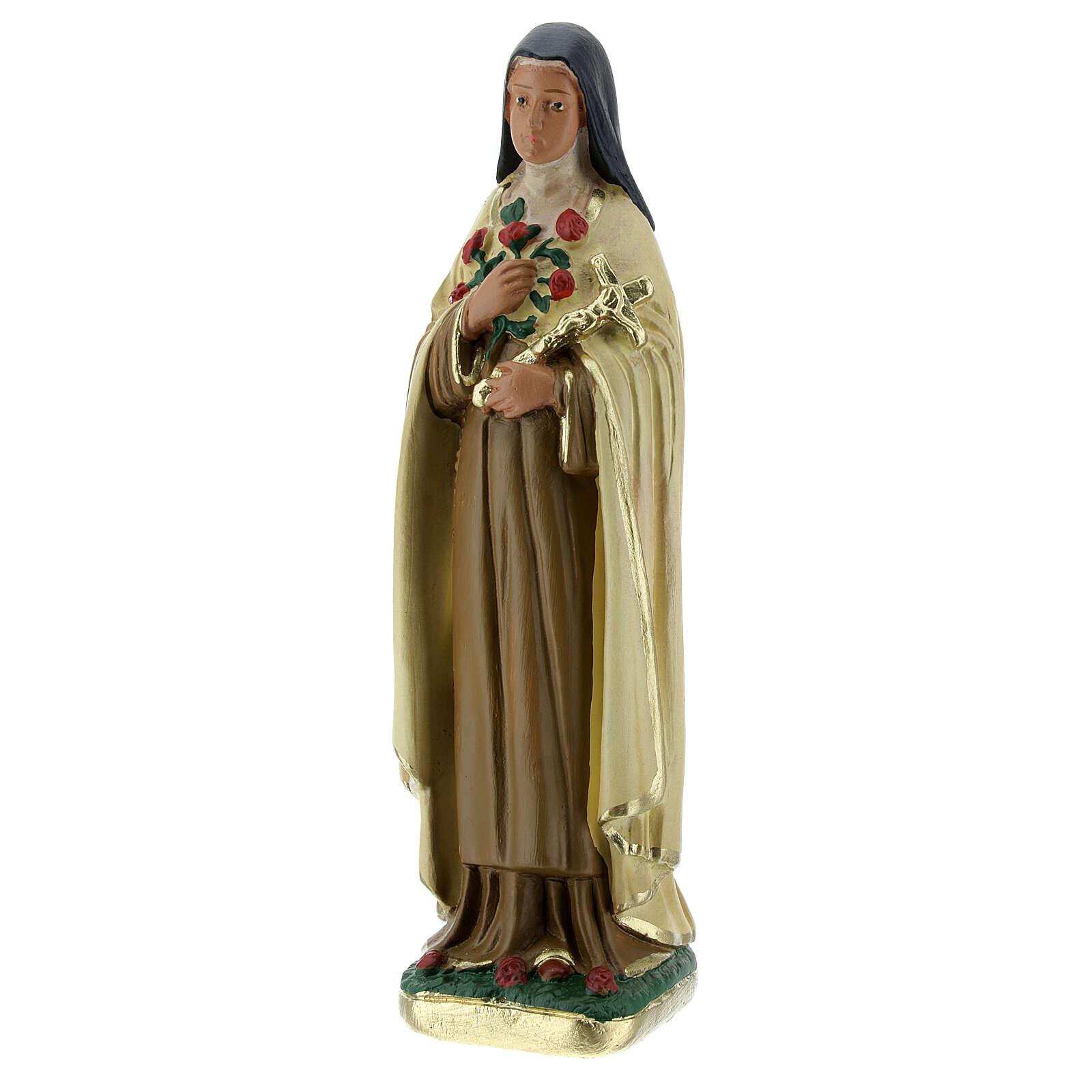 Santa Teresa del Bambino Gesù statua gesso 15 cm Arte Barsanti 4