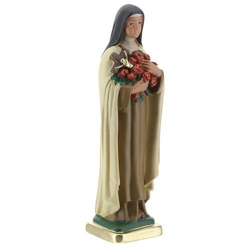 Statua Santa Teresa del Bambino Gesù gesso 20 cm dipinto Barsanti 4