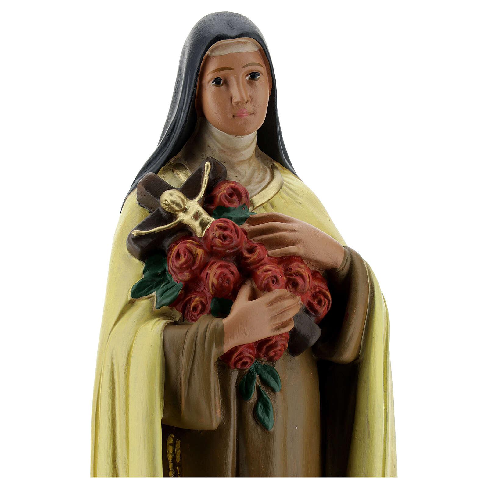 Saint Thérèse de l'Enfant Jésus 30 cm statue plâtre Arte Barsanti 4