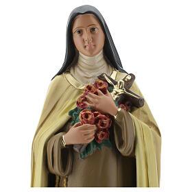 Statue Sainte Thérèse de l'Enfant Jésus 40 cm plâtre peint Barsanti s6