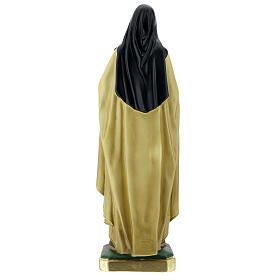 Statue Sainte Thérèse de l'Enfant Jésus 40 cm plâtre peint Barsanti s7