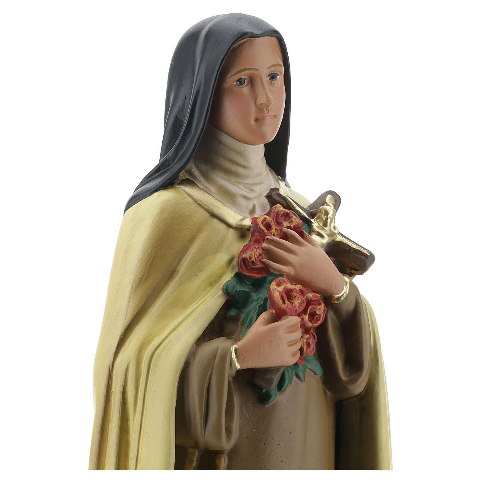 Statua Santa Teresa del Bambino Gesù 40 cm gesso dipinto Barsanti 4