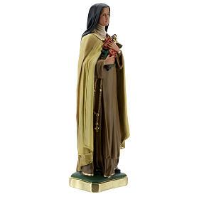Statua Santa Teresa del Bambino Gesù 40 cm gesso dipinto Barsanti s5