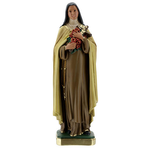 St Therese plaster statue, 40 cm hand painted Barsanti 1
