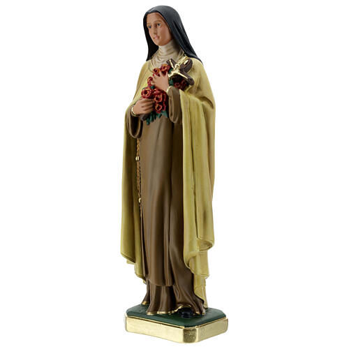 St Therese plaster statue, 40 cm hand painted Barsanti 3