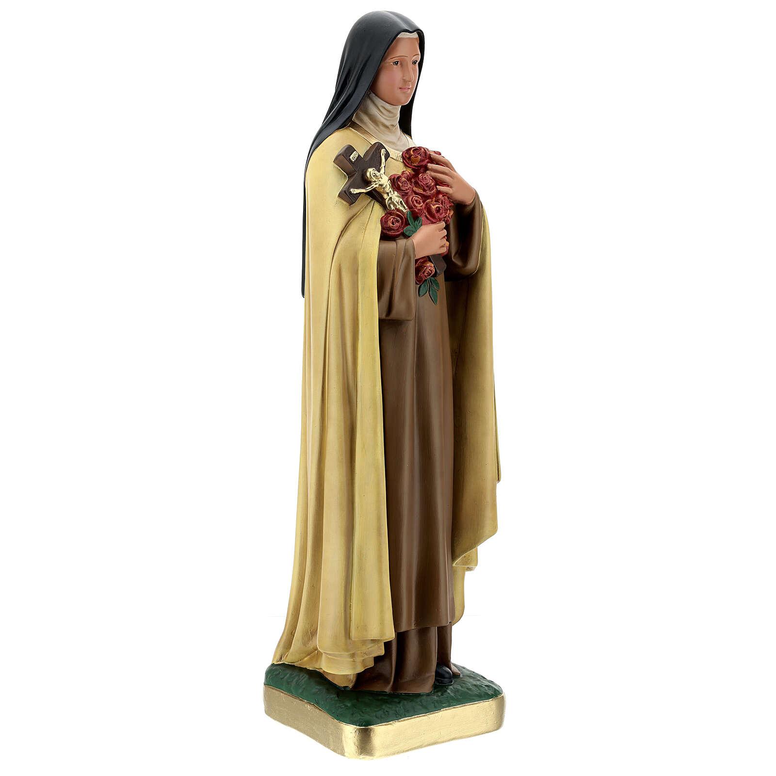 Sainte Thérèse de l'Enfant-Jésus 60 cm statue plâtre Arte Barsanti 4